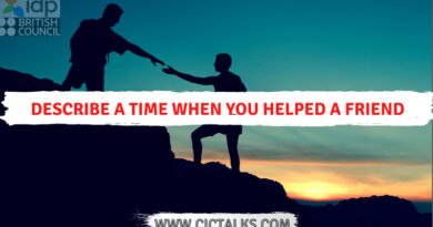 Describe a time when you helped a friend [IELTS Cue Card]