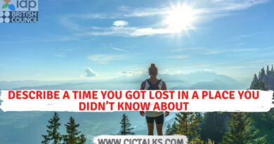 Describe a time you got lost in a place you didn't know about [IELTS Cue Card]
