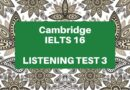 ielts 16 listening test 3 junior cycle camp